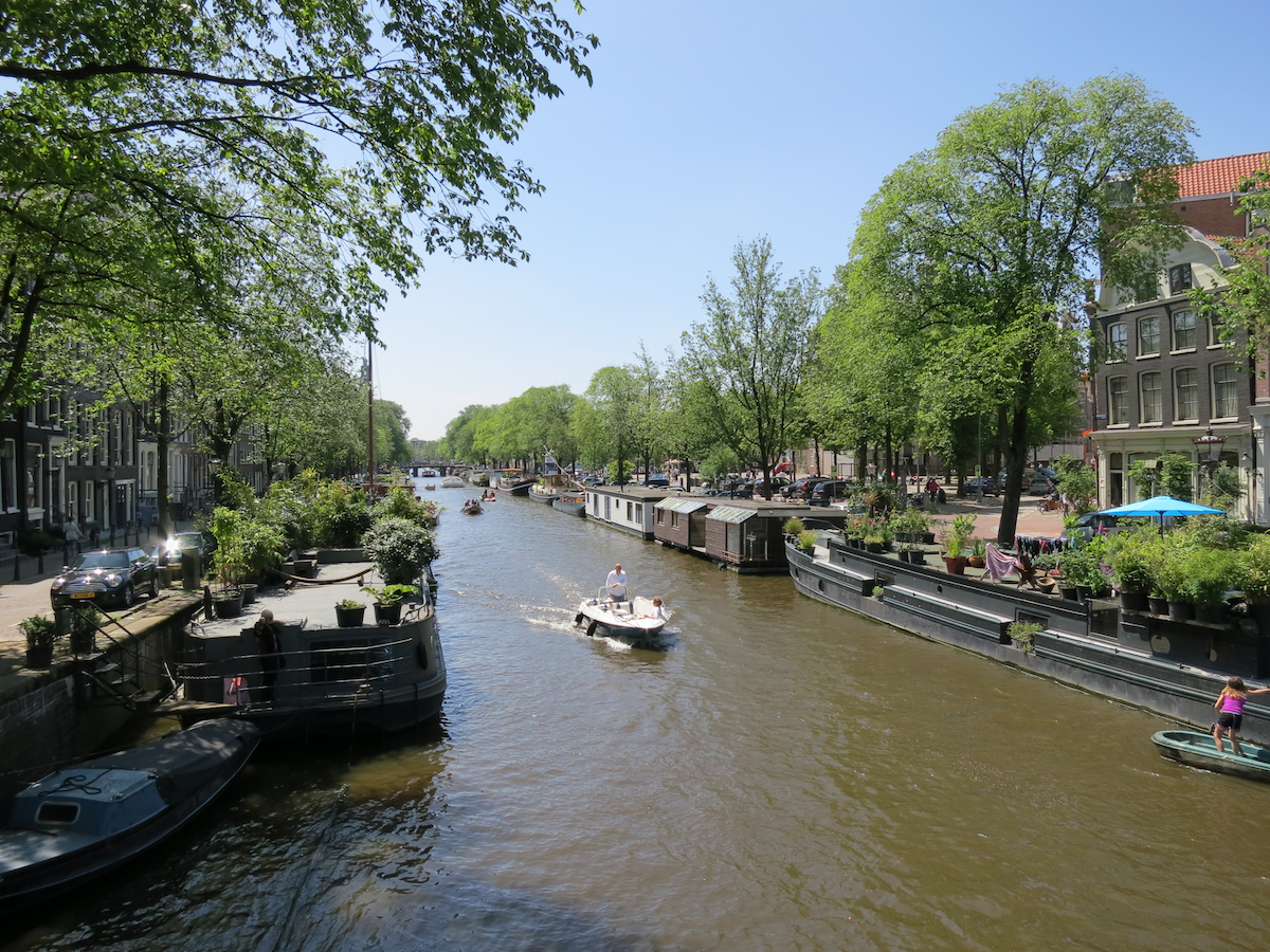 houseboats canals Amsterdam